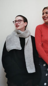 Hand knitted scarf from Birdsong London
