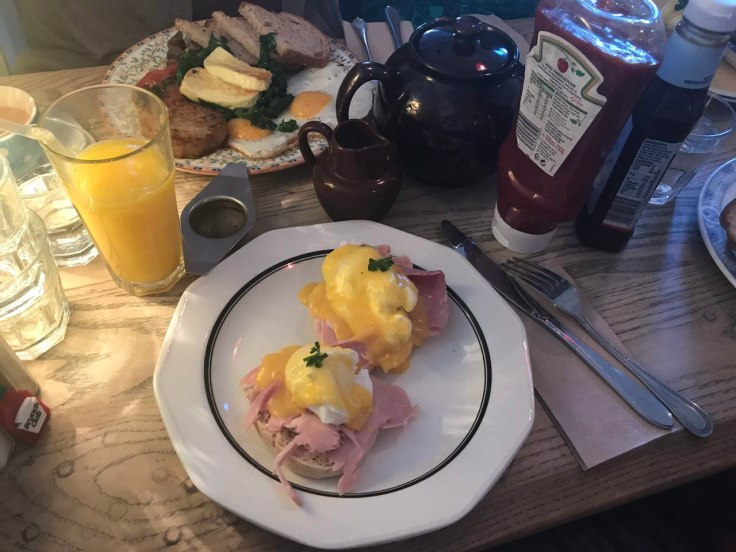 Eggs Benedict at The Haberdashery