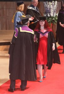Lori graduating from her Master's at UAL
