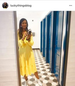 A mirror selfie by @luckythingsblog