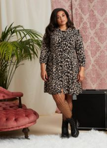 Joanie 'corey' leopard print dress