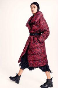 Studio by Preen leopard print puffer coat