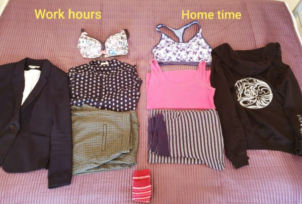 Sigita's work vs non-work outfits