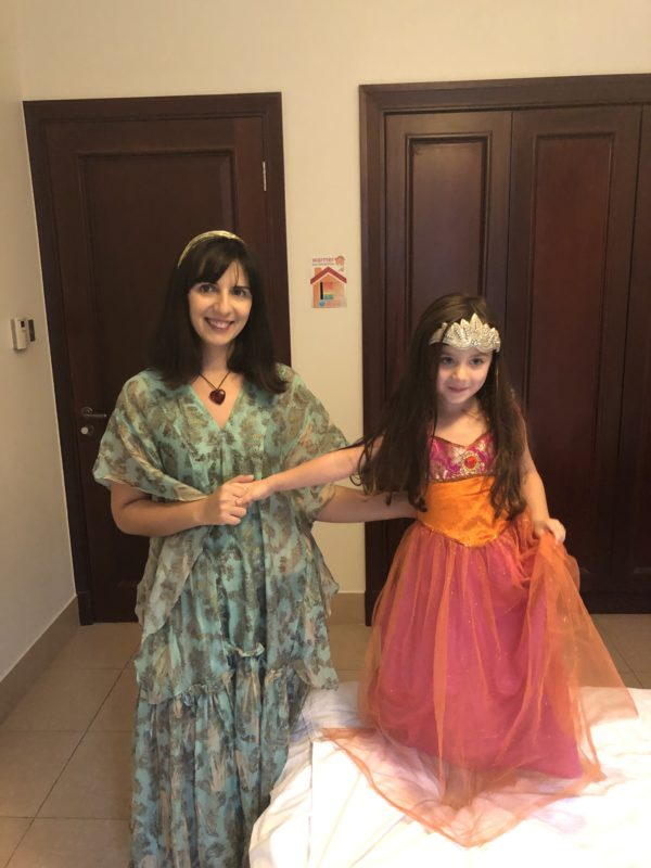 Noorin with her daughter on their one