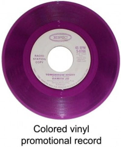 colored vinyl promotional record