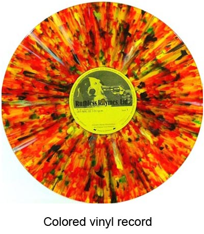 colored vinyl records