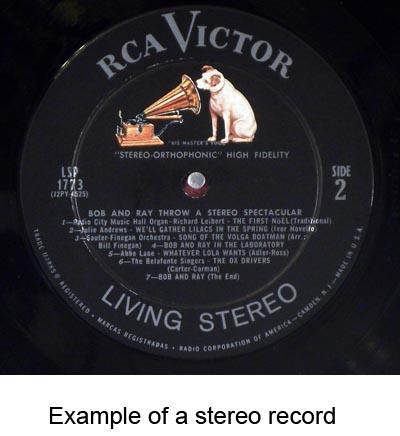 stereo vinyl records