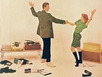 vinyl records in the 1950s