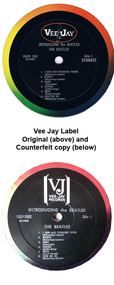 beatles albums vee jay