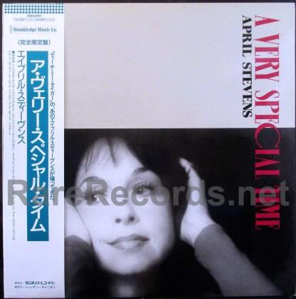 april stevens - a very special time japan pink vinyl LP