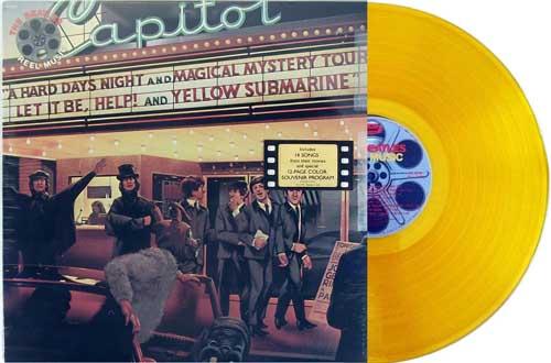 beatles - reel music yellow vinyl promo lp