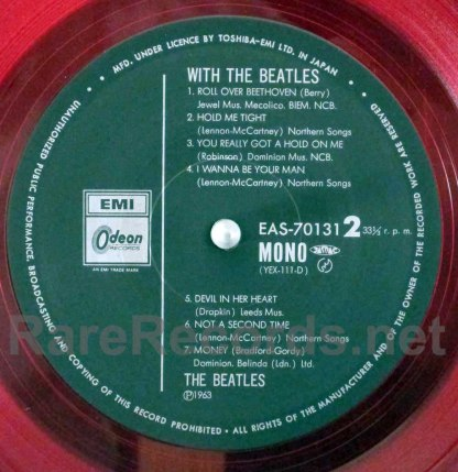 beatles - with the beatles red vinyl mono japan lp