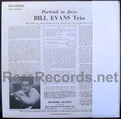 bill evans - portrait in jazz japan lp