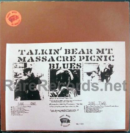 bob dylan - talkin' bear mountain massacre picnic blues tmoq LP