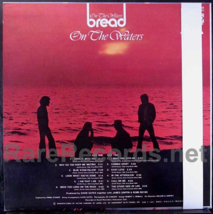 bread - on the waters japan lp