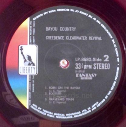 ccr - bayou country red vinyl japan lp