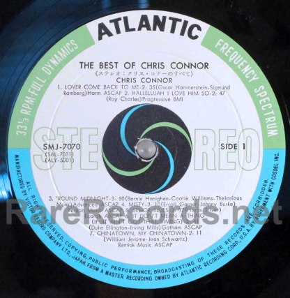 Chris Connor - many sides of chris connor japan lp