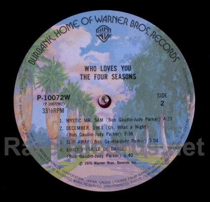 four seasons - who loves you japan lp
