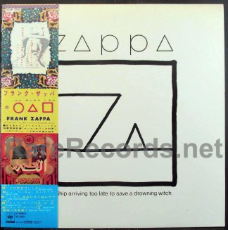 frank zappa - Ship Arriving Too Late to Save a Drowning Witch japan lp
