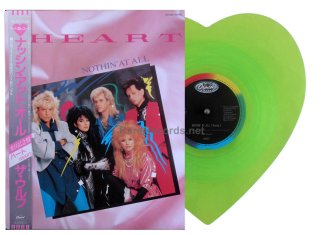 heart - nothin' at all japan green vinyl single