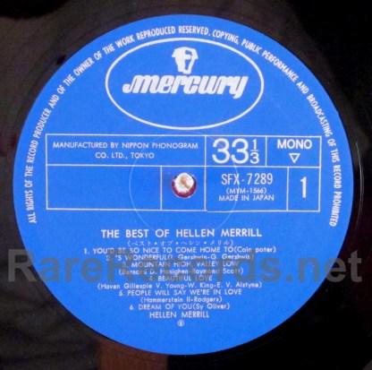 helen merrill - the best of helen merrill japan lp
