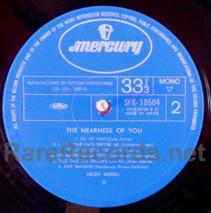 helen merrill - the nearness of you japan lp