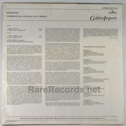 Dorati/Royal Philharmonic - Beethoven Symphony #3 Dutch import LP