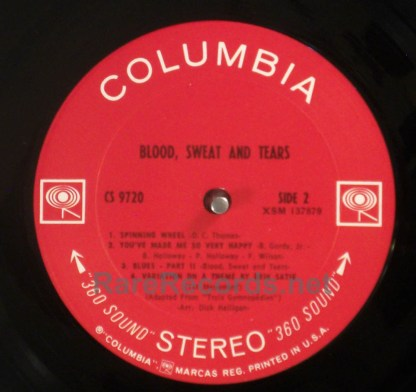 Blood, Sweat & Tears - Same original issue of self-titled 1969 LP