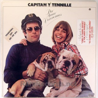 Captain & Tennille - Por Amor Viviremos first LP in Spanish white label promo