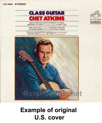 Chet Atkins - Class Guitar ultra-rare 1968 Japan LP with obi