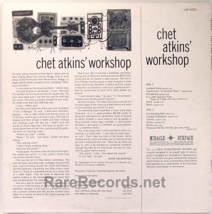 Chet Atkins - Chet Atkins Workshop RCA stereo 1961 LP