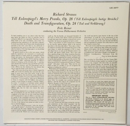 Strauss - Till Eulenspiegel - Reiner/Vienna Philharmonic Classic Records 4 LP 45 RPM set