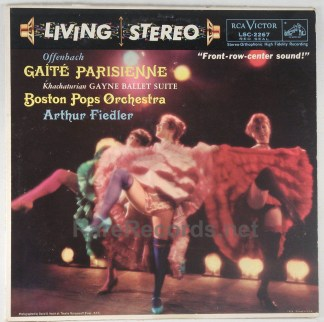 Fiedler/Boston Pops - Gaite Parisienne 1959 RCA stereo LP 22s