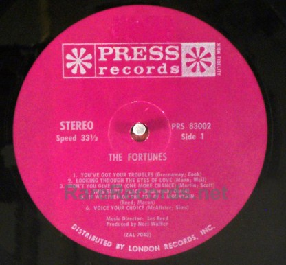 Fortunes - You've Got Your Troubles rare 1965 stereo US LP