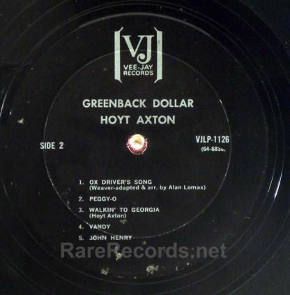 Hoyt Axton - Greenback Dollar 1964 VJ LP