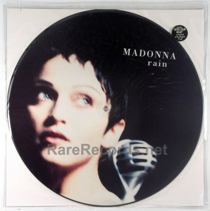 """Madonna - Rain limited edition 1993 UK 12"""" picture disc"""