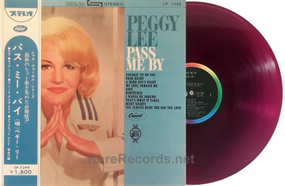 Peggy Lee - Pass Me By red vinyl Japan LP with obi
