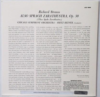 Reiner/CSO - Also Sprach Zarathustra Classic Records 180 gram LP