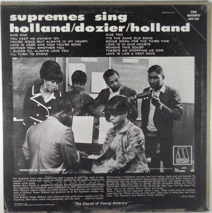 Supremes - Sing Holland Dozier Holland sealed 1966 mono Motown LP