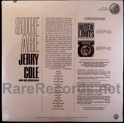 jerry cole - surf age LP with bonus single