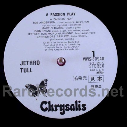 jethro tull - a passion play japan lp