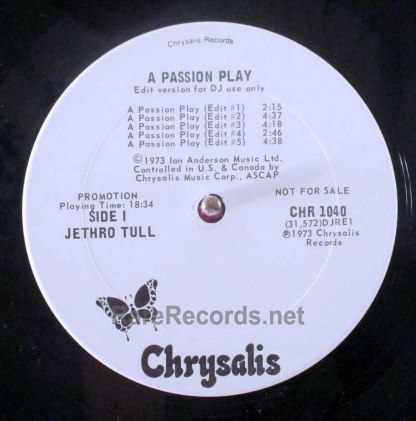 jethro tull - a passion play edited promo LP
