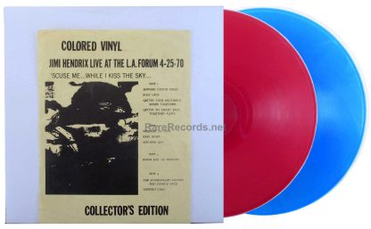 jimi hendrix - live at the l.a. forum red blue vinyl lp