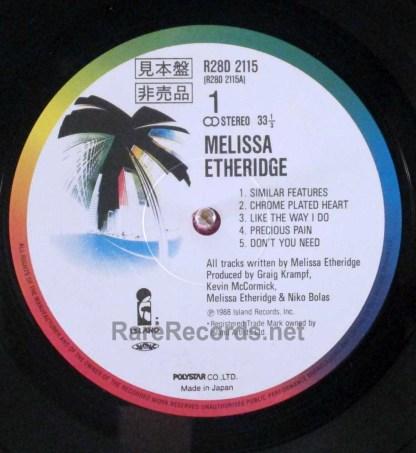 melissa etheridge - japan lp