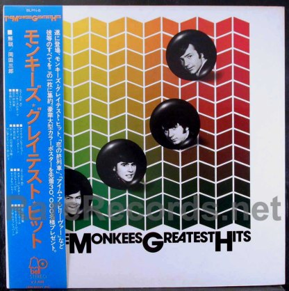 monkees - greatest hits japan lp
