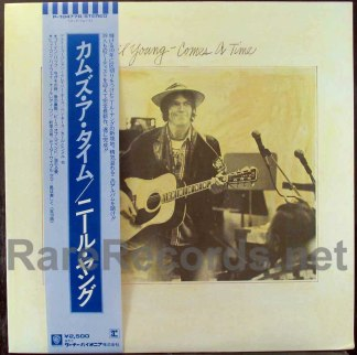 neil young - comes a time japan lp