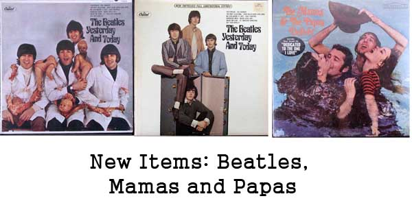 rare records - beatles, mamas and the papas