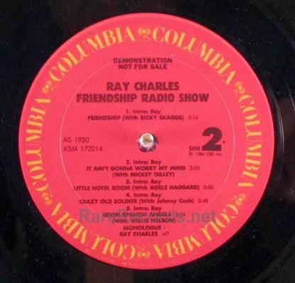 ray charles friendship radio show lp