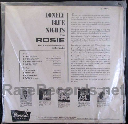 rosie and the originals - lonely blue nights with rosie lp