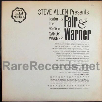 sandy warner - fair and warner yellow vinyl lp